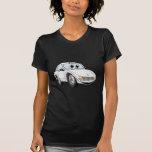 Dibujo animado blanco del coche de deportes camisetas