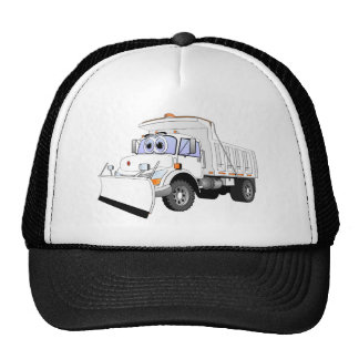 Dibujo animado blanco del quitanieves gorras