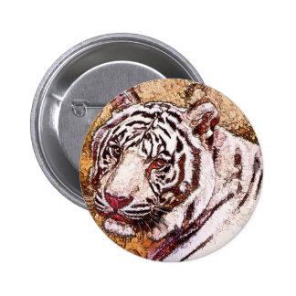 Dibujo animado blanco del tigre pins