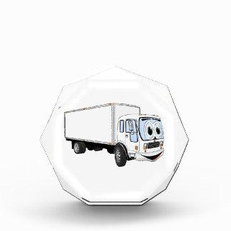Dibujo animado blanco grande del camión de reparto