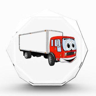 Dibujo animado blanco rojo grande del camión de