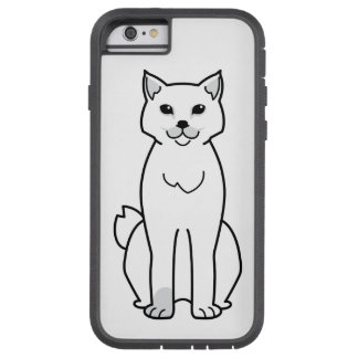 Dibujo animado Bobtail americano del gato Funda De iPhone 6 Tough Xtreme