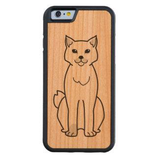 Dibujo animado Bobtail americano del gato Funda De iPhone 6 Bumper Cerezo