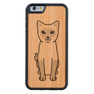Dibujo animado Bobtail del gato del Mekong Funda De iPhone 6 Bumper Cerezo