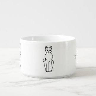 Dibujo animado Bobtail japonés del gato Tazón