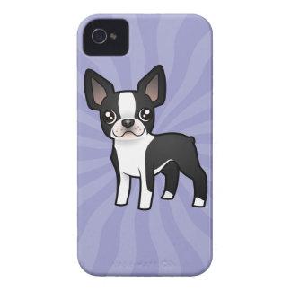 Dibujo animado Boston Terrier iPhone 4 Cárcasas