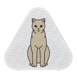 Dibujo animado británico del gato del uno mismo de altavoz