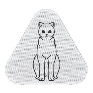 Dibujo animado británico del gato del uno mismo de altavoz bluetooth