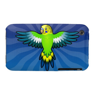 Dibujo animado Budgie/Parakeet Carcasa Para iPhone 3