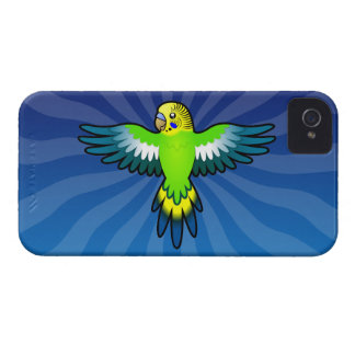 Dibujo animado Budgie/Parakeet Funda Para iPhone 4