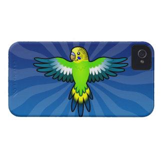 Dibujo animado Budgie/Parakeet Funda Para iPhone 4 De Case-Mate