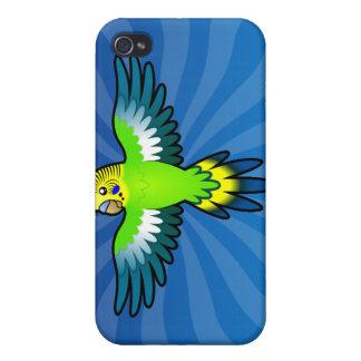 Dibujo animado Budgie/Parakeet iPhone 4 Carcasas