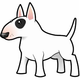 Dibujo animado bull terrier imán fotoescultura