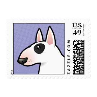 Dibujo animado bull terrier sellos