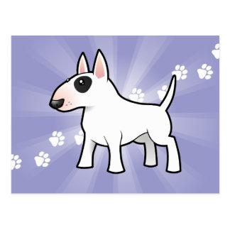 Dibujo animado bull terrier tarjetas postales