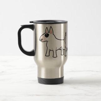 Dibujo animado bull terrier taza térmica