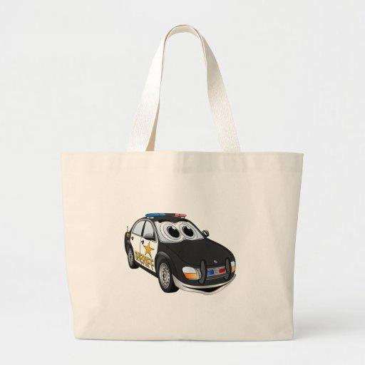 Dibujo animado BWB del coche del sheriff Bolsas