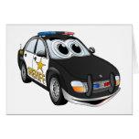 Dibujo animado BWB del coche del sheriff Tarjeta