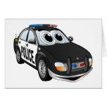Dibujo animado BWB del coche policía Felicitacion