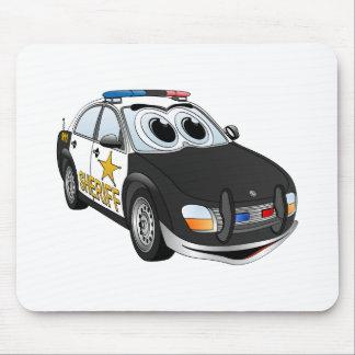 Dibujo animado BWW del coche del sheriff Tapete De Ratones