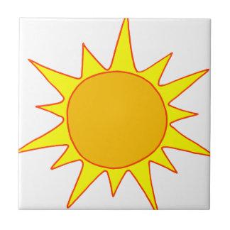 Dibujo animado caliente de Sun Teja Cerámica