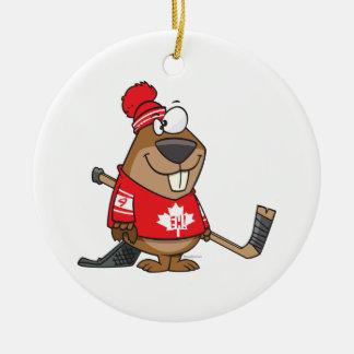 dibujo animado canadiense tonto del castor del hoc ornamento para reyes magos