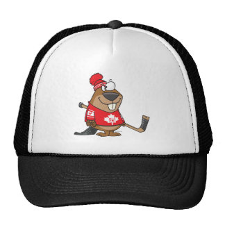 dibujo animado canadiense tonto del castor del hoc gorras