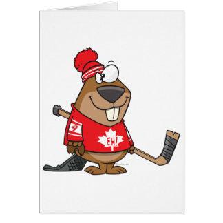 dibujo animado canadiense tonto del castor del tarjeta de felicitación