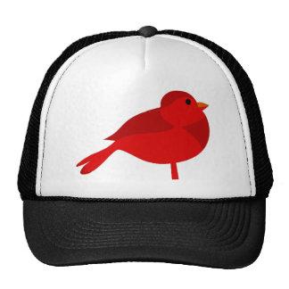 Dibujo animado cardinal rojo del petirrojo de gorro de camionero