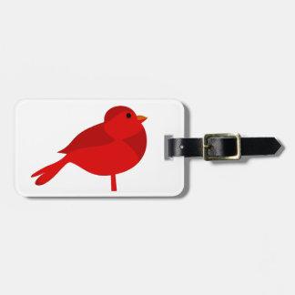Dibujo animado cardinal rojo del petirrojo de Rock Etiqueta Para Equipaje