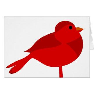 Dibujo animado cardinal rojo del petirrojo de tarjeta de felicitación