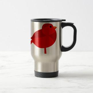 Dibujo animado cardinal rojo del petirrojo de taza de viaje de acero inoxidable