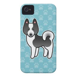 Dibujo animado carelio del perro del oso iPhone 4 Case-Mate carcasa