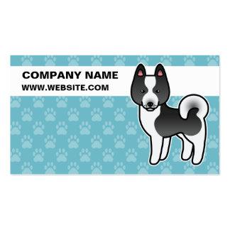 Dibujo animado carelio del perro del oso tarjetas de visita
