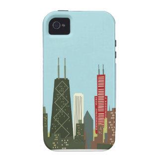 Dibujo animado Chicago iPhone 4/4S Fundas