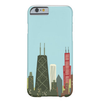 Dibujo animado Chicago Funda De iPhone 6 Barely There