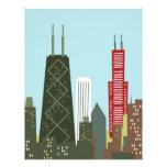 Dibujo animado Chicago Membrete