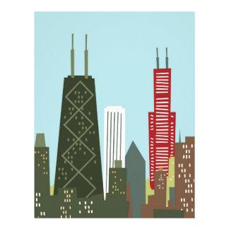 Dibujo animado Chicago Plantilla De Membrete