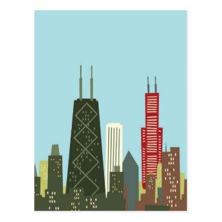 Dibujo animado Chicago Tarjetas Postales