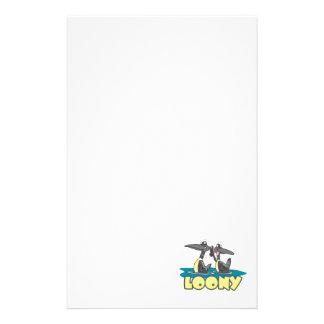 dibujo animado chiflado del pájaro de los bribones papeleria