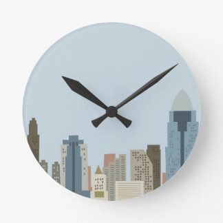 Dibujo animado Cincinnati Reloj Redondo Mediano