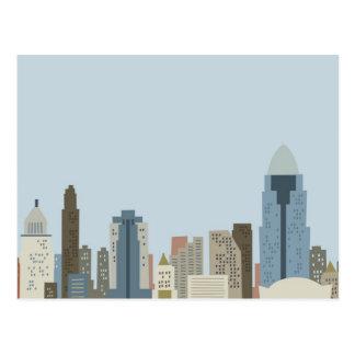 Dibujo animado Cincinnati Postales