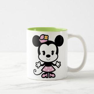 Dibujo animado clásico de Minnie el | Taza De Dos Tonos