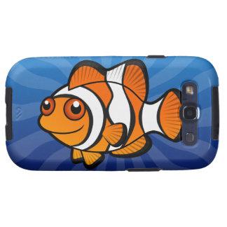 Dibujo animado Clownfish Samsung Galaxy S3 Cárcasas