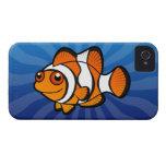 Dibujo animado Clownfish iPhone 4 Case-Mate Protector