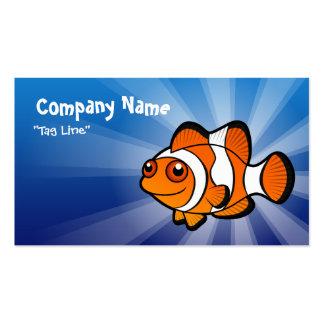 Dibujo animado Clownfish Tarjetas De Visita