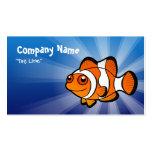 Dibujo animado Clownfish Tarjetas De Negocios