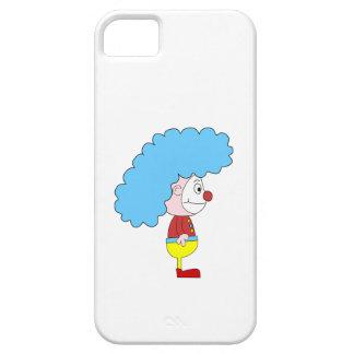 Dibujo animado colorido del payaso. Pelo azul iPhone 5 Carcasas
