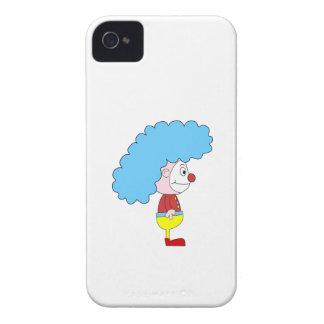 Dibujo animado colorido del payaso. Pelo azul iPhone 4 Carcasa