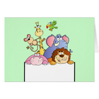 dibujo animado colorido del tablero de la muestra  tarjeta de felicitación